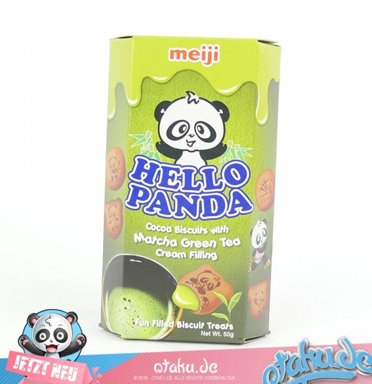 Hello Panda Green Tea Biscuits