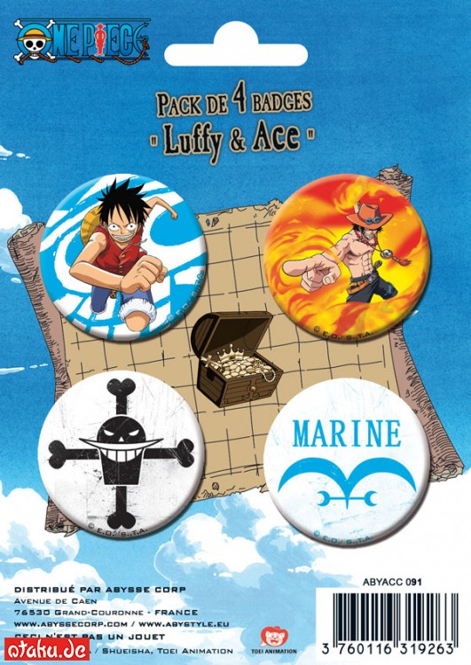 One Piece - Buttons - Ruffy & Ace