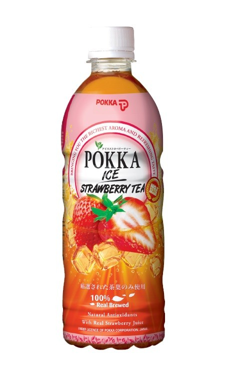 "Eistee / Tee POKKA 0,5L "" STRAWBERRY"""