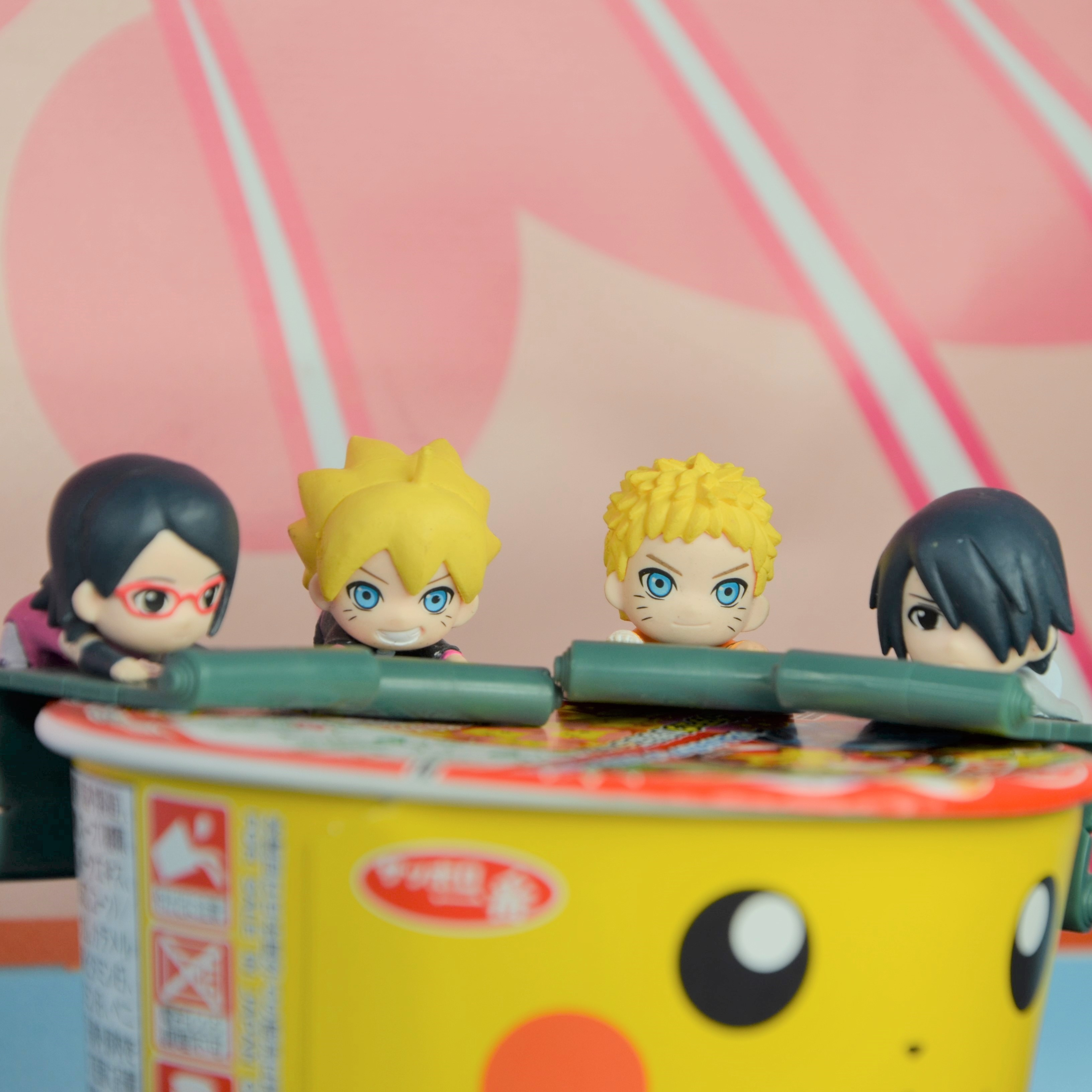 Naruto Mini-Figuren set Noodle Holder