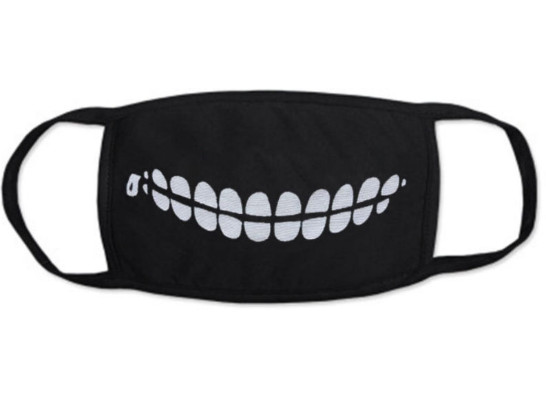 "Gesichtsmaske Motiv : ""creepy teeth zipper"""