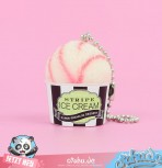 Stripe Ice Cream Strawbeery Gashapon